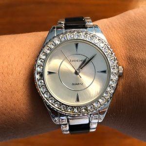 bebe embellished watch